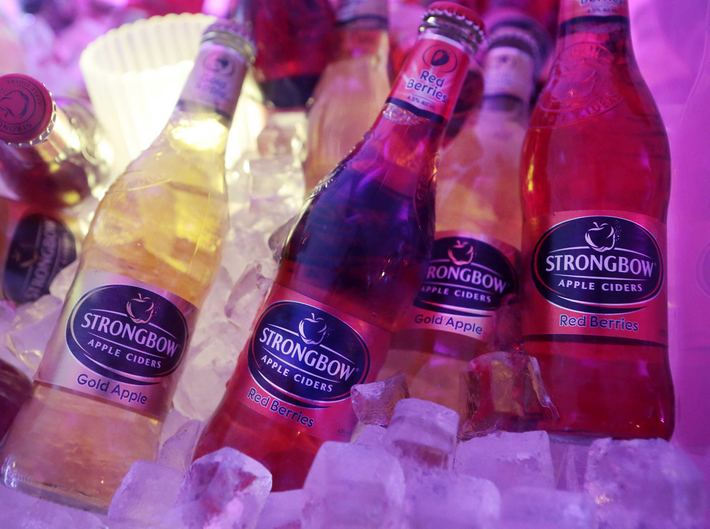 Strongbow in ice